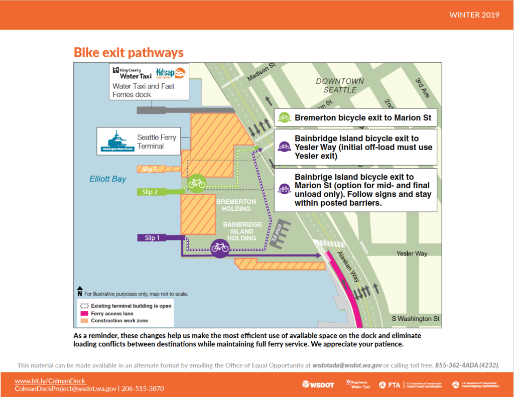 Update: New bicycle Information Flyer for the south side entrance of toll plaza